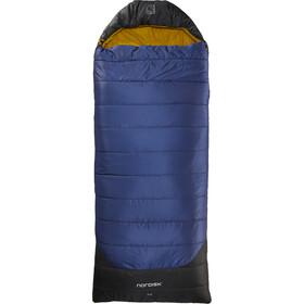 Nordisk Puk -2° Blanket Sovepose L, true navy/mustard yellow/black